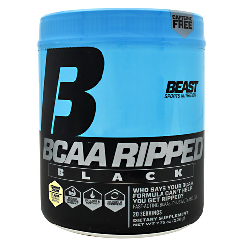 Beast Sports Nutrition Black BCAA Ripped - Coconut Cream - 20 ea