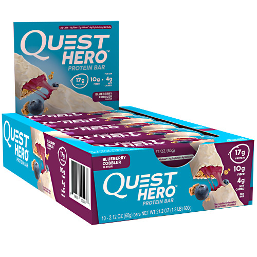 Quest Nutrition Hero Bar - Blueberry Cobbler - 10 ea