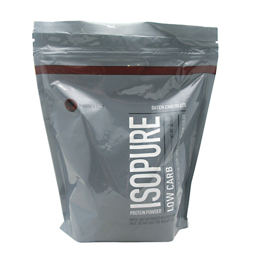 Natures Best Low Carb Isopure - Dutch Chocolate - 1 lb