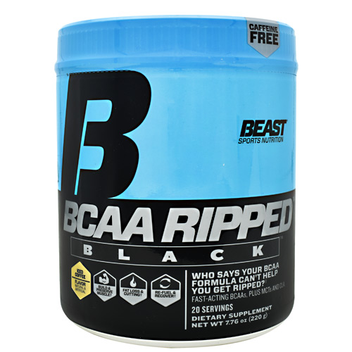 Beast Sports Nutrition Black BCAA Ripped - Iced Coffee - 20 ea