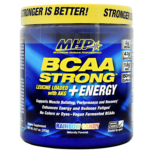 MHP BCAA Strong  Energy - Rainbow Candy - 30 ea