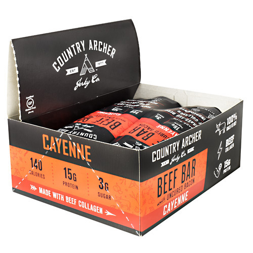 Country Archer Beef Bar with Collagen - Cayenne - 12 ea