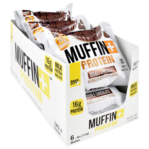 Bake City/ Protein+ Muffin+ Protein - Double Chocolate - 6 ea