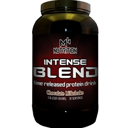 M4 Nutrition Intense Blend Protein 3lb - Strawberry