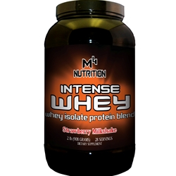 M4 Nutrition Intense Whey Protein 2lb - Strawberry